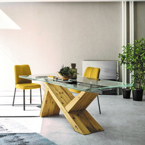 Ikarus fixed extending dining table by Sedit