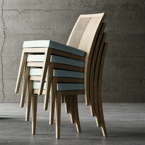 Modern Italian design oak chair Minuetto by Imperial Line