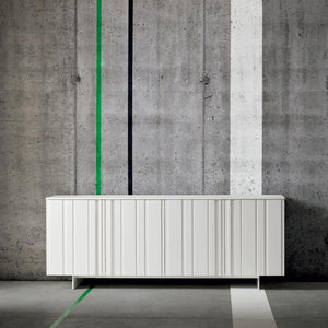 Design modern sideboard in carved surface by Dall'Agnese