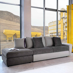 Modern Italian 5 seater sofa-bed Duffy by Domingo