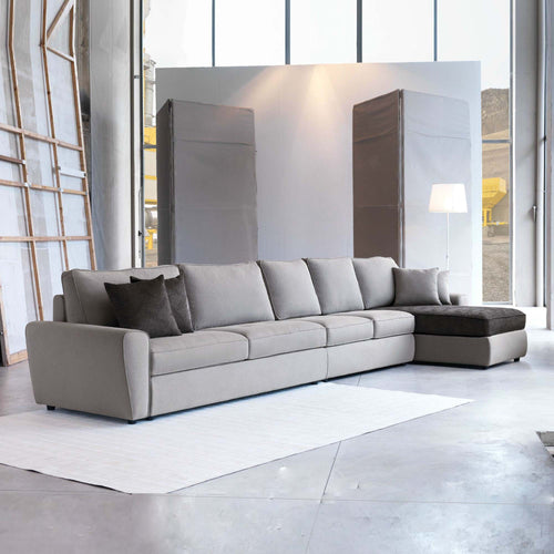 Contemporary Italian designer 7 seater sofa Duffy by Domingo