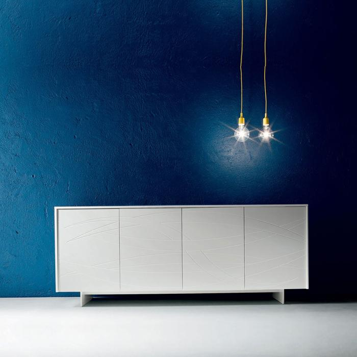 Fiamma sideboard in matt or gloss lacquered finish by Dall'Agnese