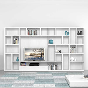 Polar TV media unit with spacious library by Mobilstella
