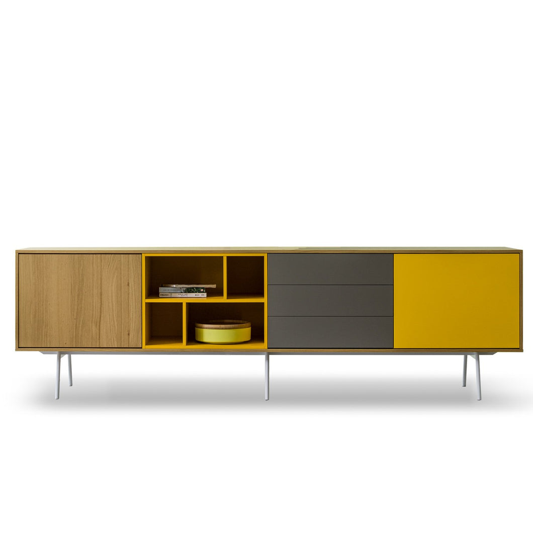 Contemporary long sideboard Wooden Modern by Dall'Agnese
