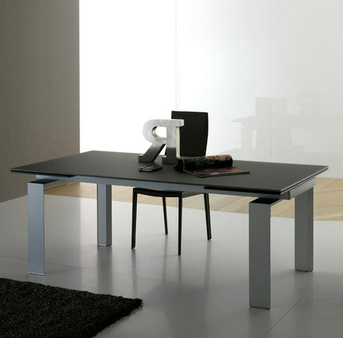Alu Modern Italian extending dining table