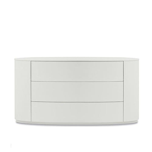 Christal elegant oval chest of 3 drawers by Dall'Agnese