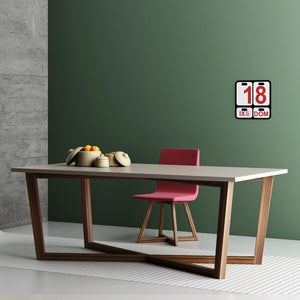 Feng Shui rectangular fixed dining table by Imperial Line