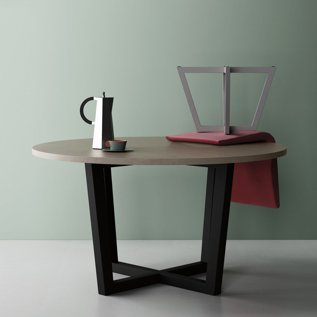 Feng Shui round fixed dining table