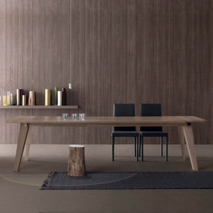 Fred Wooden dining Modern extending Italian table by Compar