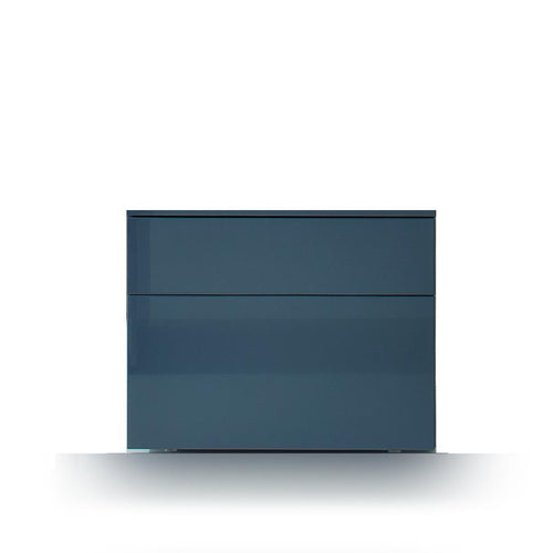 Slim 2 drawer bedside cabinet by Dall'Agnese