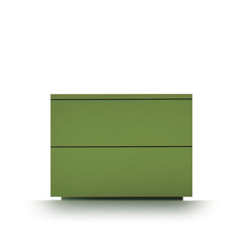 Slim 2 drawer low bedside cabinet by Dall'Agnese