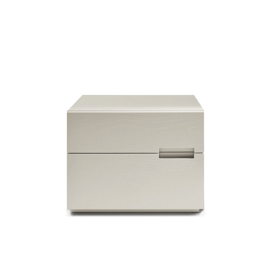 Asola 2 drawer small bedside cabinet