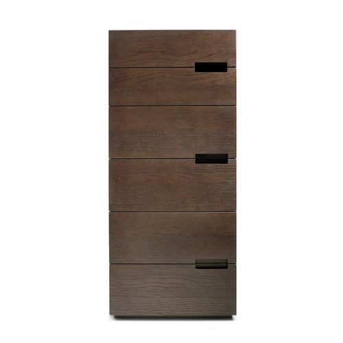 Asola 6 drawer tallboy with embedded handles by Dall'Agnese