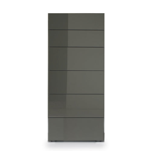 Blade 6 drawer tallboy with embedded handles by Dall'Agnese