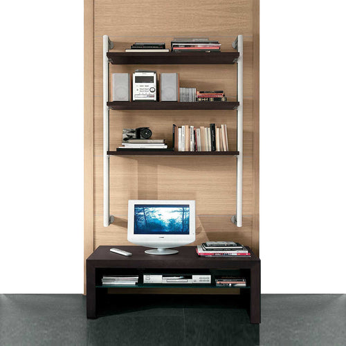 Contemporary Natasha III modern wall library bookcase by La Primavera