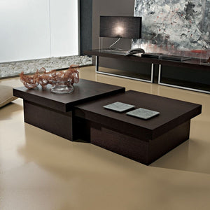 Asia rectangular coffee table with storage