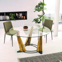 Load image into Gallery viewer, Laguna round or rectangular glass dining table by Sedit