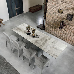 Libeccio stoneware extending dining table by Target Point - myitalianliving