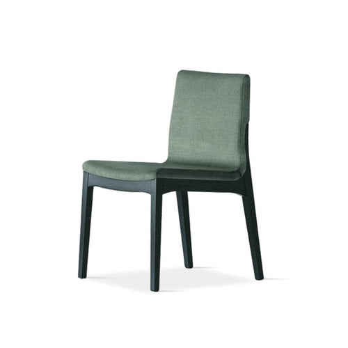 Lula upholstered solid ash wood dining chair by Sedit