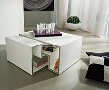 Load image into Gallery viewer, Marika modular white gloss coffee table by La Primavera