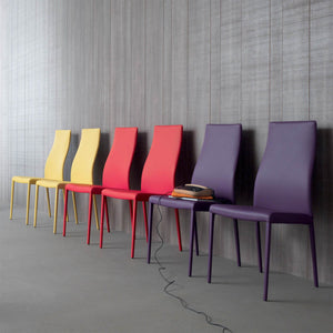 Marilyn tall upholstered dining chair by Compar
