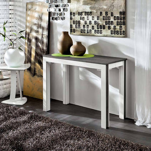 Modern design console extending dining table by La Primavera