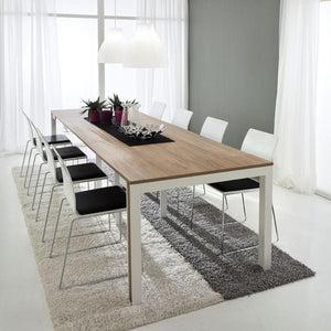 Modern design console extending dining table
