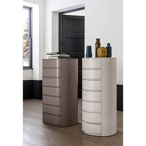 Theo round 7 drawer tallboy