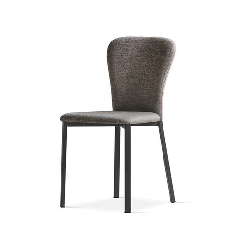 Moon upholstered ergonomic dining chair by Sedit