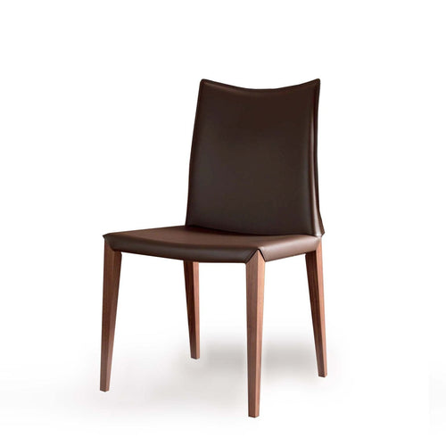 Flora regenerated leather upholstered dining chair by Compar