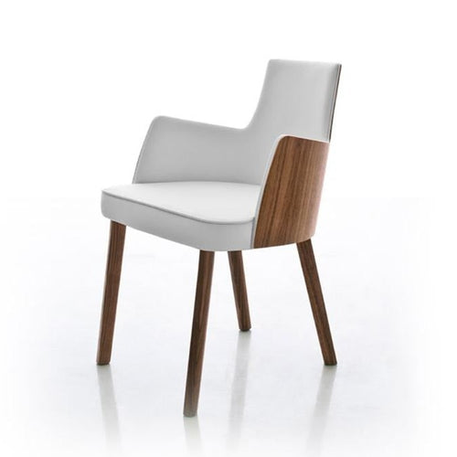 Mila Contemporary Padded Italian dining armchair by Compar