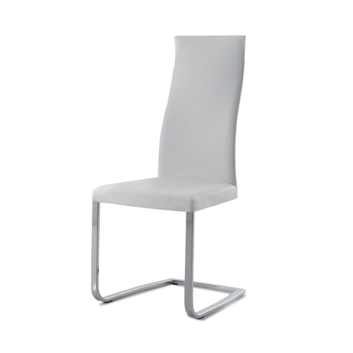 Slim dining chair in upholstery leather by Compar