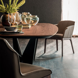 Skorpio wooden fixed dining table by Cattelan Italia