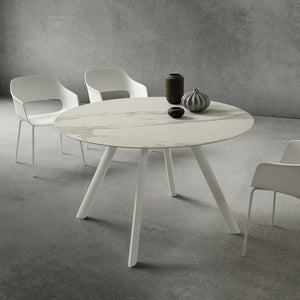 Nicola Ø130 round dining table by La Primavera - myitalianliving