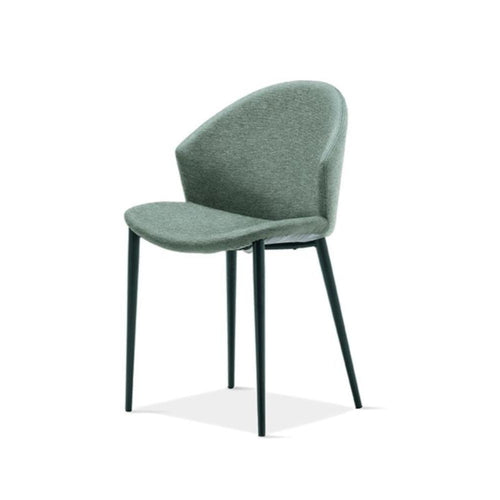 Paris upholstered dining chair with enveloping backrest by Sedit