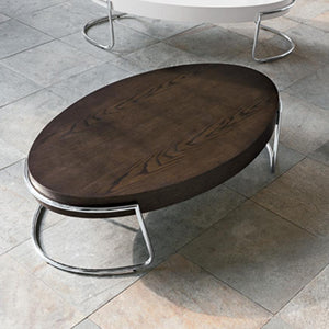 Perseus oval wooden coffee table