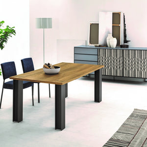 Power extending dining table with powdered steel girders by Sedit - myitalianliving