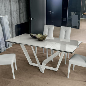 Priamo ceramic extending dining table by Target Point
