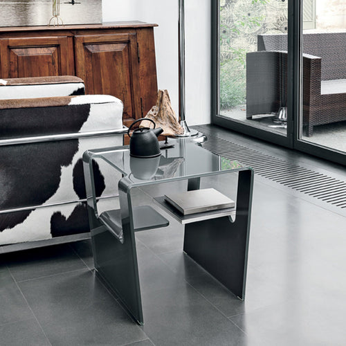 Proteo curved glass coffee table