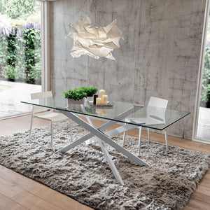 Renzo fixed rectangular dining table by La Primavera - myitalianliving