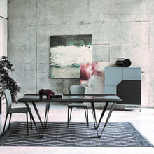Load image into Gallery viewer, Rio Curly contrasting striped fixed dining table by Sedit