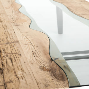 Rio Sygma contrasting striped fixed dining table