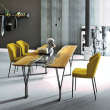 Load image into Gallery viewer, Rio Sygma contrasting striped fixed dining table by Sedit