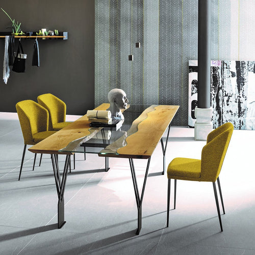 Rio Sygma contrasting striped fixed dining table by Sedit