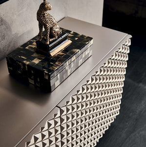 Royalton elegant textured 3 door sideboard by Cattelan Italia