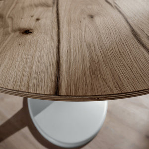 Ruud fixed oval dining table by La Primavera - myitalianliving