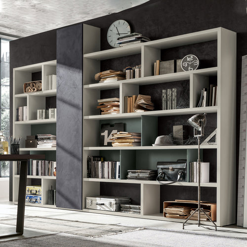 Open Bookcase wall unit Composition Integra GS107 by Santa Lucia