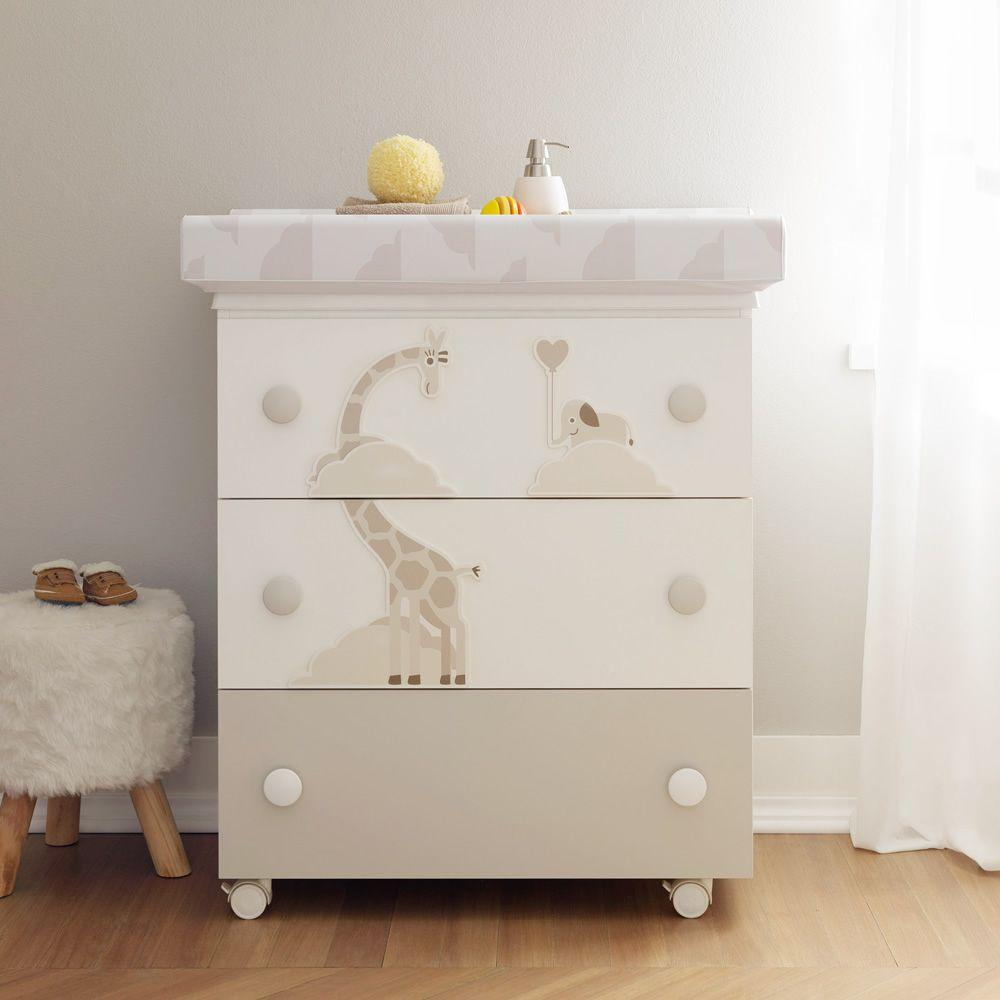table-baby bath with 3 drawers by Pali - myitalianliving