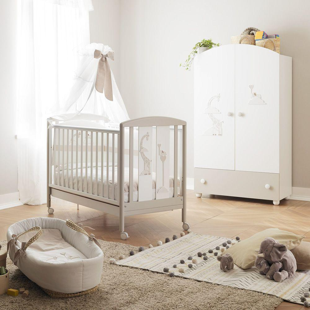 Wooden cot with drawer bed slat base by Pali - myitalianliving