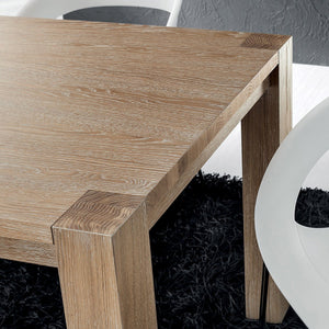 Sergio extending natural oak dining table by La Primavera - myitalianliving